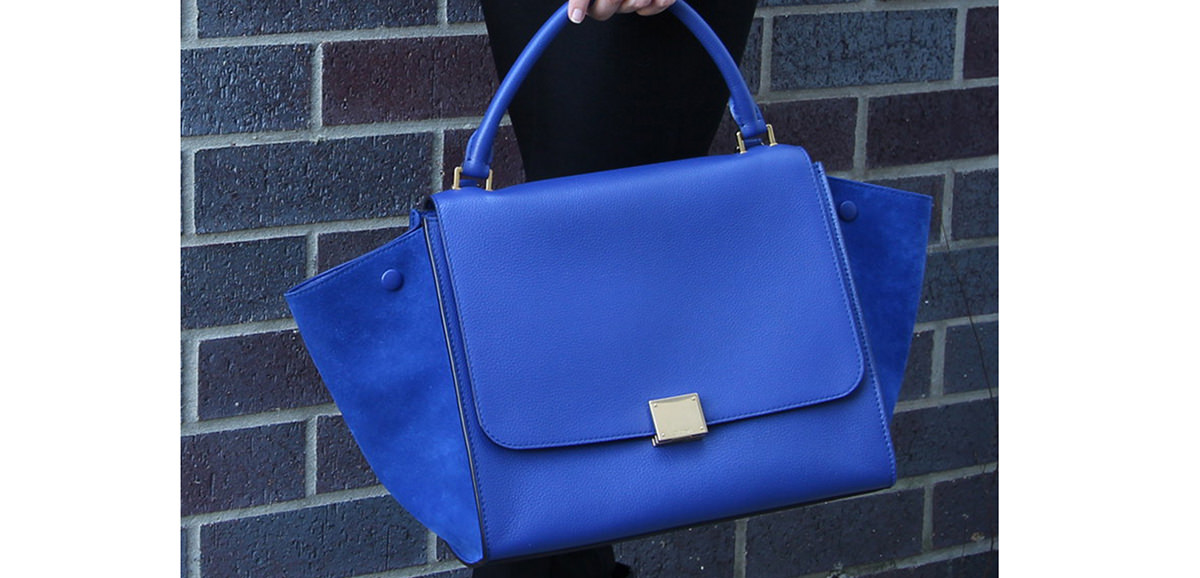 celine two-material trapeze